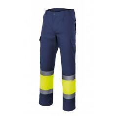 Pantalón bicolor alta visibilidad forrado