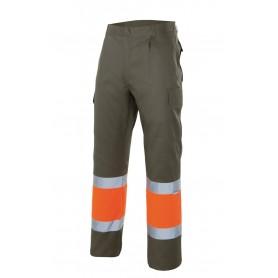 Pantalón bicolor alta visibilidad con bandas reflectantes