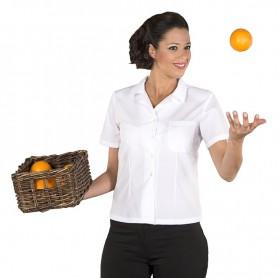 Camisa de manga corta hostelería y oficinas de mujer