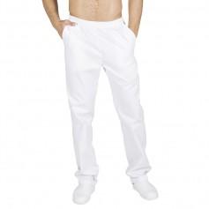 Pantalón blanco goma y bolsillos