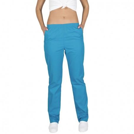 Pantalón color goma y bolsillos