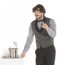 Chaleco de camarero en rayas