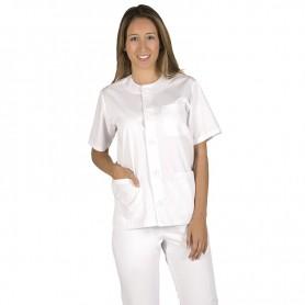 Blusa Sanitario Abotonada blanca mujer