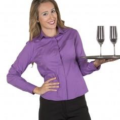 Camisa de hostelería o camareras para mujer en colores