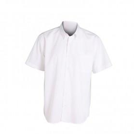 Camisa Manga Corta hombre con bolsillo blanca para hostelería-industrial