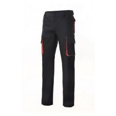 Pantalón bicolor multibolsillos con refuerzo de tejido