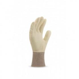 Pack 12 guante de punto de algodón color crudo y puño elástico
