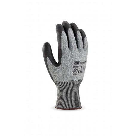 Pack 12 guante de fibra anticorte valor 5 con recubrimiento de poliuretano.