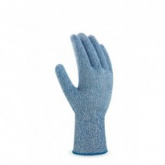 Pack 12 guante anti-corte nivel 5 color azul para industria alimentaria.