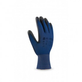 Pack 12 guante de nylon ultra-fino recubrimiento poliuretano color negro