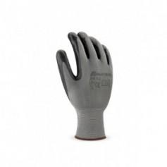 Pack 12 guante de poliéster color negro con recubrimiento de nitrilo.