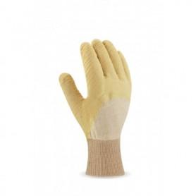 Pack 12 guante de látexcon soporte de punto de algodón, puño elástico.