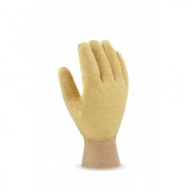 Pack 12 guante de látex soporte de punto de algodón, puño elástico.