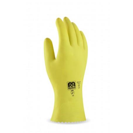 82c546ca083 Pack 12 guante de látex en color amarillo para riesgos mecánicos  superficiales