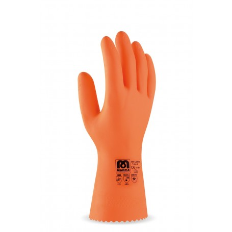 Pack 12 guante para riesgos mecánicos, químicos y microorganismos.