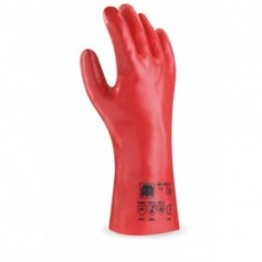 Pack 12 guante de PVC para riesgos mecánicos, químicos y microorganismos.