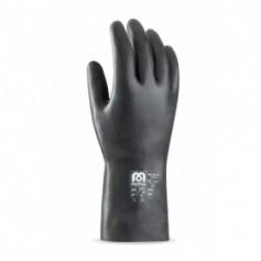 Pack 12 guante de neopreno para riesgos mecánicos, químicos y microorganismos.