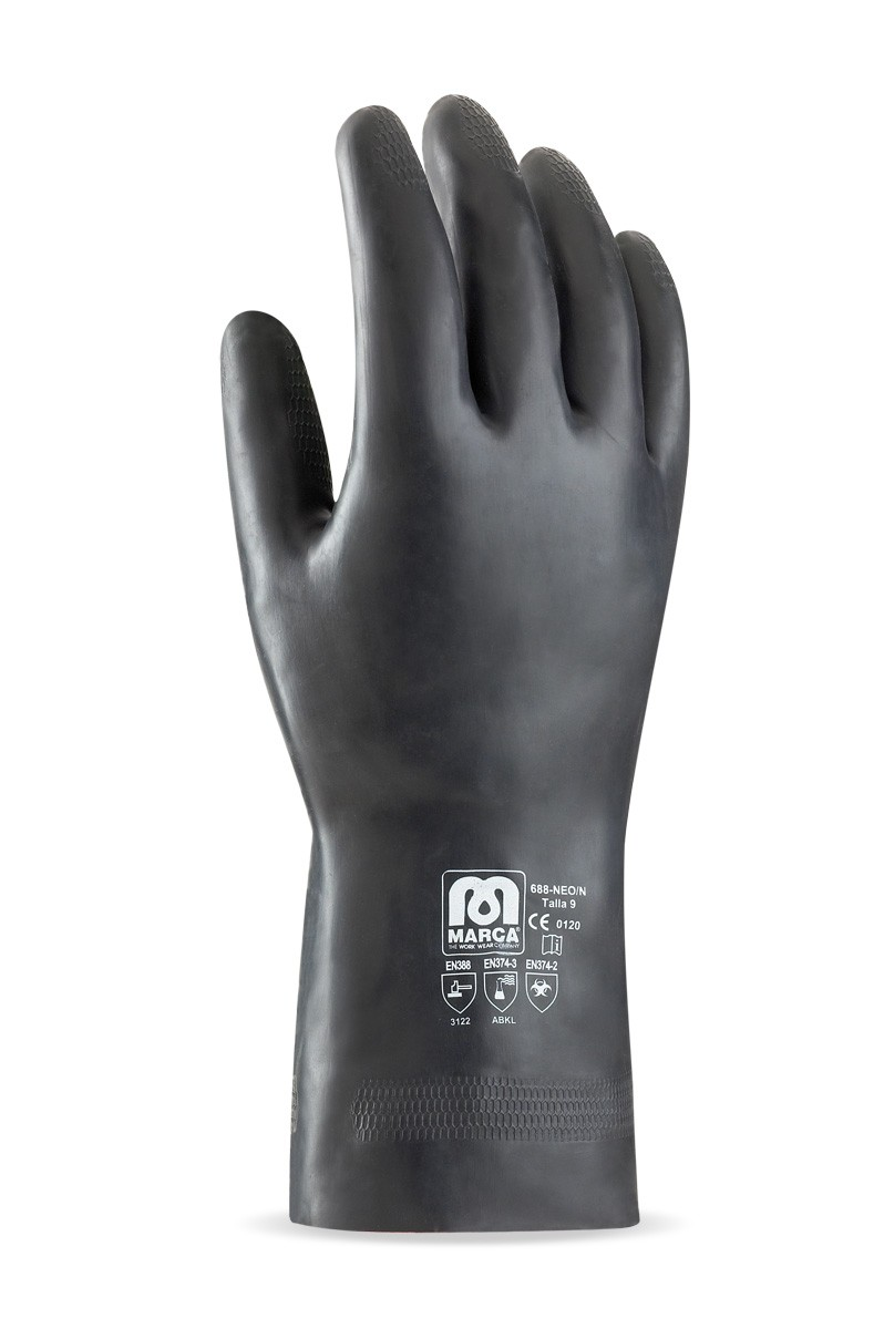 a9fa6426d3b guante de neopreno para riesgos mecánicos, químicos y microorganismos.