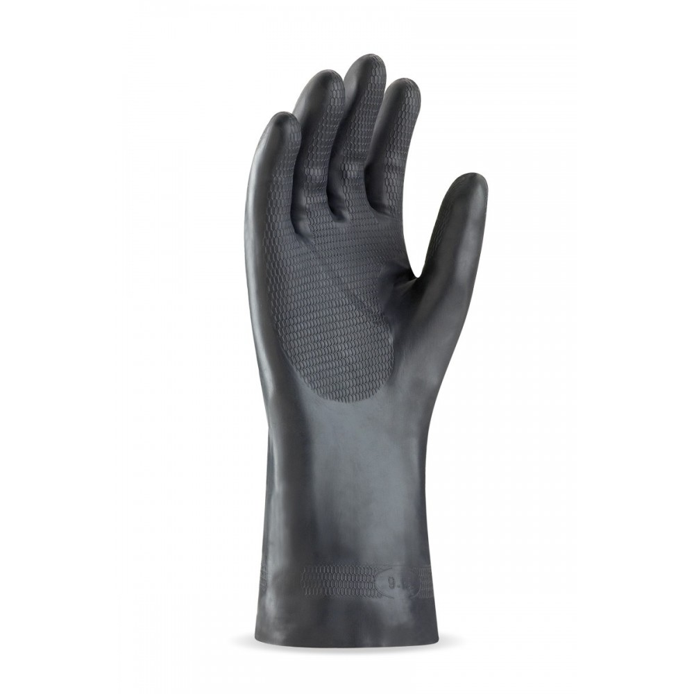d3ac4ed1007 Pack 12 guante de neopreno para riesgos mecánicos, químicos y  microorganismos.