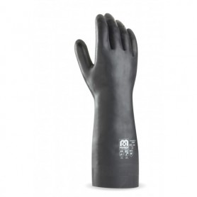 Pack 12 guantes largos para riesgos mecánicos, químicos y microorganismos.