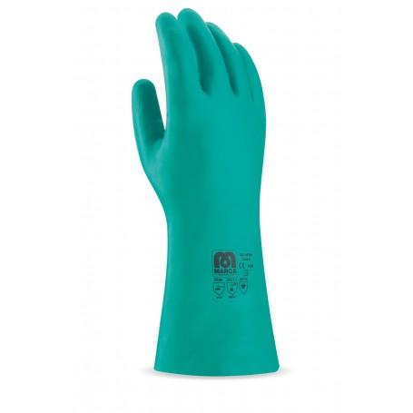 Pack 12 guante tipo industrial de nitrilo.