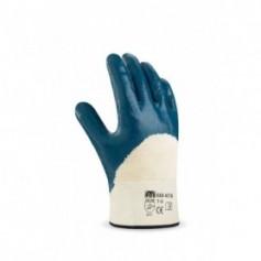 Pack 12 guante Nitrilo flexible con soporte de punto de algodón.