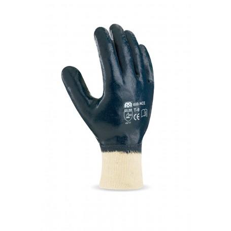 Pack 12 guante Nitrilo con soporte de punto de algodón, puño elástico.