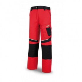Pantalón tergal canvas 245 g Color rojo-negro.