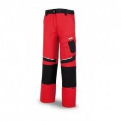Pantalón tergal canvas 245 g Color rojo-negro.