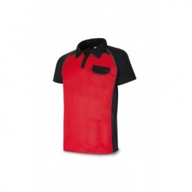POLO manga corta tejido técnico rojo/negro con bolsillo