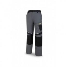 Pantalón de trabajo en tergal con hueco reforzado para rodilleras gris