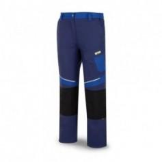Pantalón de trabajo canvas en tergal reforzado con rodilleras azul