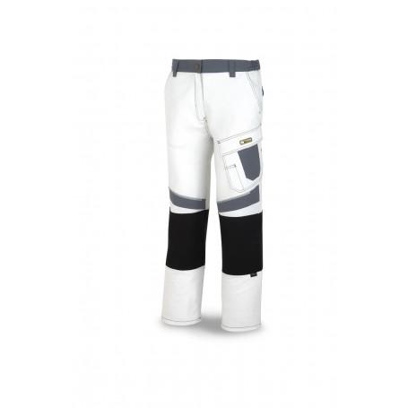 Pantalón de trabajo canvas en tergal reforzado con rodilleras