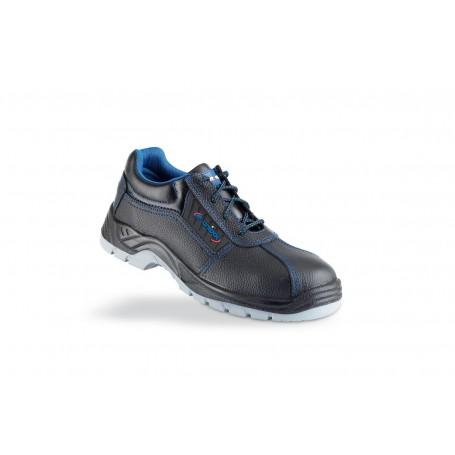 zapato piel negra s3 metal free con suela de poliuretano doble