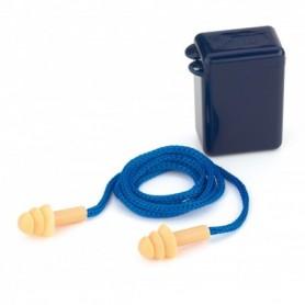 Tapón auditivo silicona reutilizable con cordón CAJA 100 UNIDADES