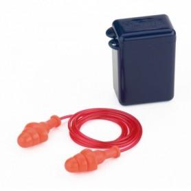 Tapón auditivo reutilizable con cordón. CAJA 100 UNIDADES