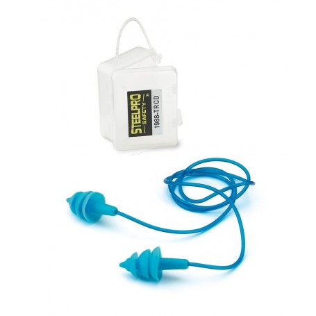 Tapón auditivo reutilizable con cordón detectable CAJA 100 UNIDADES