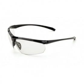 Gafa negra/transparente de diseño envolvente, muy cómoda y ligera