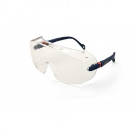 Gafa tipo visita-cubre-gafas de ocular panorámico, patillas regulables