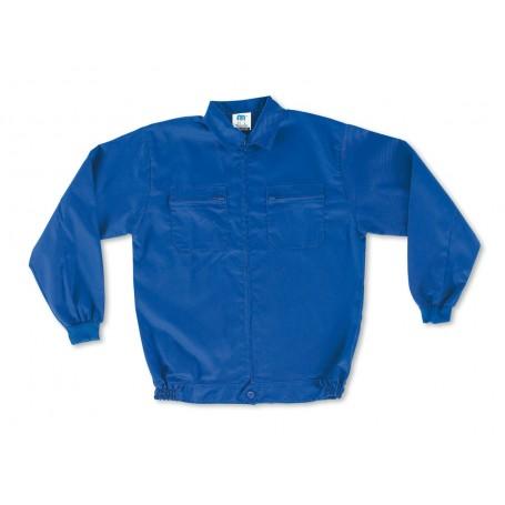 Chaqueta azulina algodón 200 g. Cierre de Cremallera.