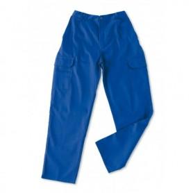 Pantalón azulina algodón 200 g. Multibolsillos.