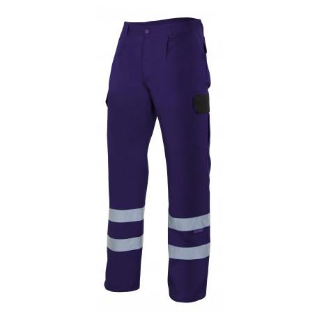 Pantalón multibolsillos con cintas reflectantes