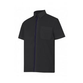 blusa de manga corta bicolor Velilla para hostelería-cocina-alimentación