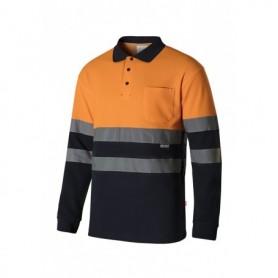 Serie 305515 Polo algodón bicolor manga larga alta vibilidad