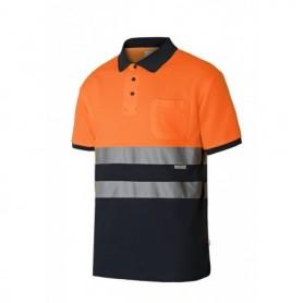 Serie 305513 Polo algodón bicolor manga corta alta vibilidad