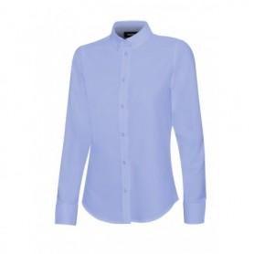 Serie 405005S Camisa oxford manga larga mujer