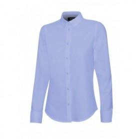 Serie 405005S Camisa oxford manga larga mujer stretch