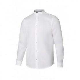 Serie 405013S Camisa cuello tirilla stretch manga larga hombre