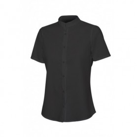 Serie 405014S Camisa cuello tirilla stretch manga corta mujer
