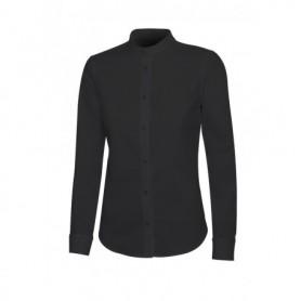 Serie 405015S Camisa cuello tirilla stretch manga larga mujer